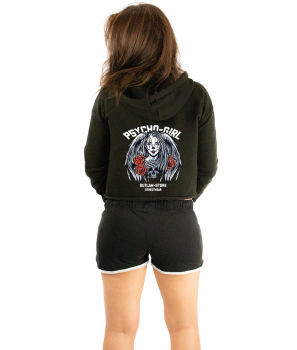 FRAUEN Cropped Zoodie - Psycho Girl